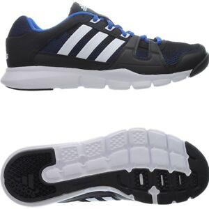 Neu Adidas Details Sport Herren Running Fitnessstudio Schwarz Schuhe Blau Zu Warrior Gym 3RqAL54cj