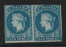 ST. HELENA 1856 SG1 6D BLUE PAIR O.G SUPERB COLOUR
