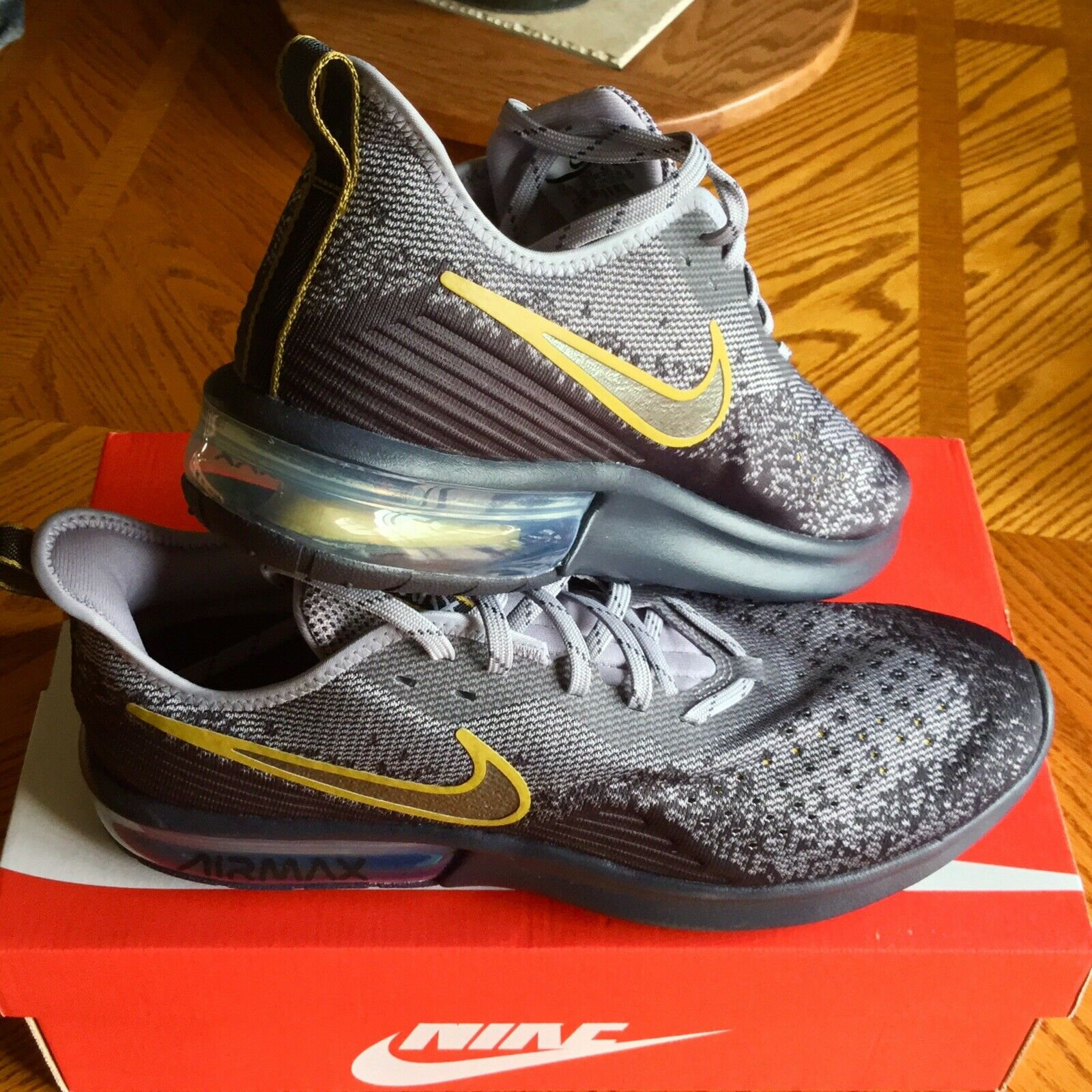 NEW NIKE AIR MAX SEQUENT 4 Gridiron Mtlc Pwtr AO4485 003 Running shoes 12.5
