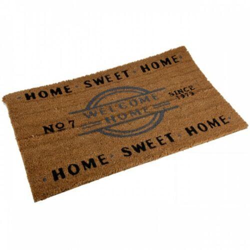 Fußmatte Home Sweet Home Welcome aus Kokos Fußabtreter Antirutschmatte NEU
