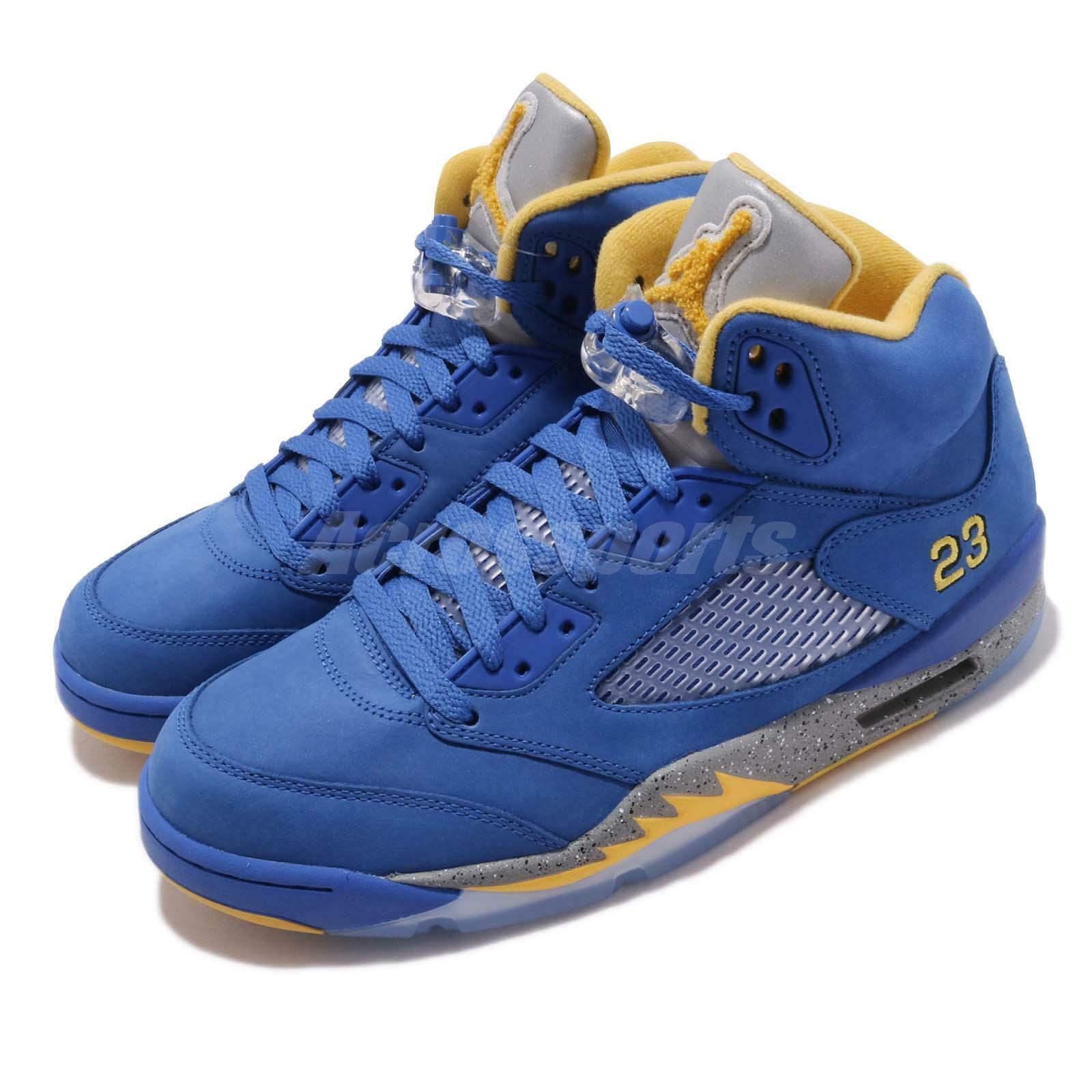 6b1074d46967 Air Jordan 5 V Laney JSP Mens Cd2720-400 Varsity Royal Maize Shoes ...