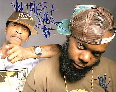 Able Gfa Tek And Steele Smif-n-wessun Signed 8x10 Photo S4 Coa Rich And Magnificent