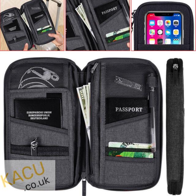Travel Wallet Passport Holder ID Credit Card Case Protective Cover Organiser Bag