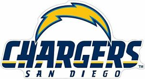 """San Diego Chargers NFL Vinyl Decal Sticker Reflective OFFICIAL NFL 3"""" Decal"""