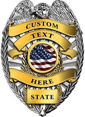 Custom police badge vinyl graphic decal sticker style 2