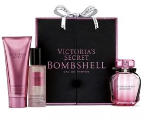 49f3fc15e9c1e Details about Victoria's Secret Bombshell Eau De Parfum Perfume Gift Set of  3 Brand New