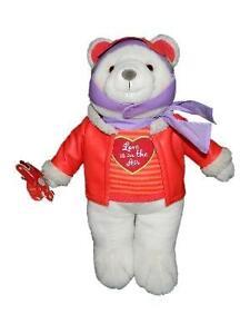 "Hallmark Love Is In The Air Aviator Pilot Plush White Teddy Bear Hang Tag 18"""