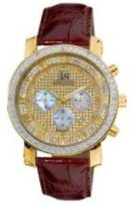 Joshua-amp-Sons-JS-28-03-Diamond-Chronograph-GMT-Brown-Leather-Strap-Mens-Watch