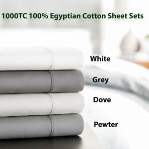 LUXE-Bedding-1000-TC-Egyptian-Cotton-Sheet-set-Mega-King-King-Mega-Queen-Queen