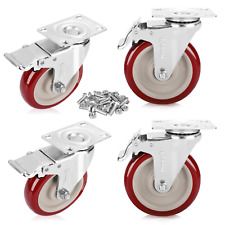 New Listingmoogiitools 5 Heavy Duty Swivel Casters Load 1500lbslockable Bearing Caster Wh