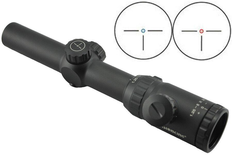 Visionking 1.25-5x26 Rifle scope IR Hunting 30 mm three-pin German 1 Reticle 223