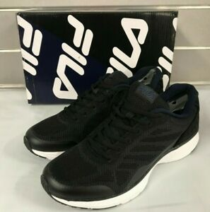 Fila-Men-039-s-Memory-Startup-Sneakers-Running-Shoes-Black-amp-Navy-NEW-Sizes-8-13