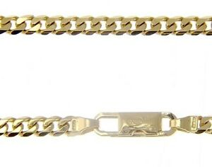 MASSIVE 18K GOLD GOURMETTE CUBAN CURB CHAIN 3.5 MM 24 IN NECKLACE MADE IN ITALY