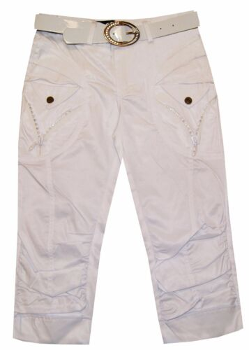 Belt Sz 6-12 Magen Kids Girl Fashion Dressy Black//White Dance Capri Slim fit W