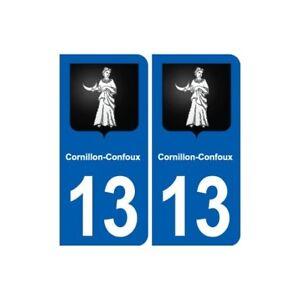 13 Cornillon-confoux Blason Ville Autocollant Plaque Sticker - Angles : Arrondi Acheter Un Donner Un