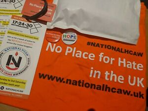 national Hate Crime Awareness Week - No Place For Hate T-shirt + Badge Set 2019