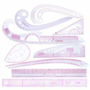 Image Is Loading 9pcs Sewing French Curve Ruler Measure Dressmaking Tailor