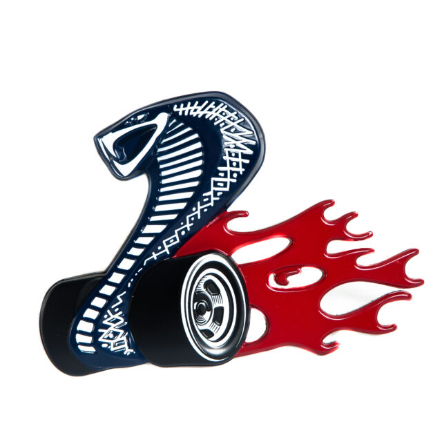 Cobra Jet Logo >> Ford Mustang Style 2008 Cobra Jet Emblem With Wheels Flames Cobrajet