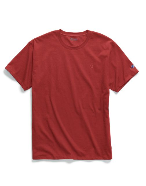 9ece21431a40 2 Champion Men's Classic Jersey Tee Shirts T0223 M Scarlet for sale ...