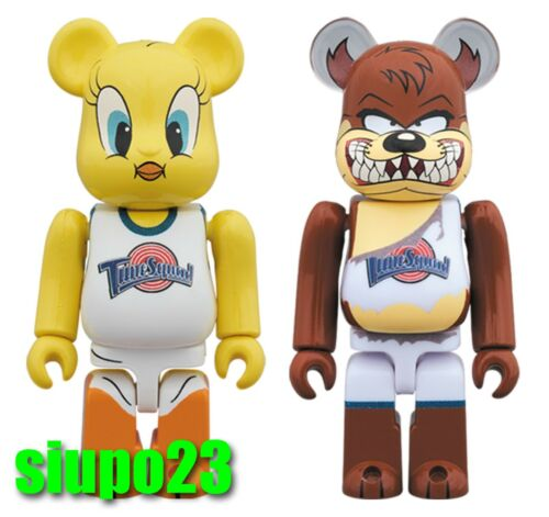 Medicom 100/% Bearbrick ~ Space Jam Be@rbrick Tweety /& Tasmanian Devil 2pcs