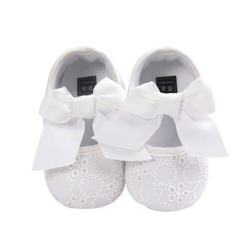 EE/_ Baby Newborn Toddler Girl Crib Shoes Pram Soft Sole Prewalker Anti-slip Snea