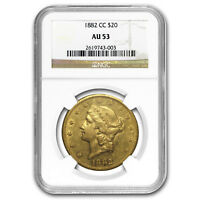 1882-CC $20 Liberty Gold Double Eagle AU-53 NGC