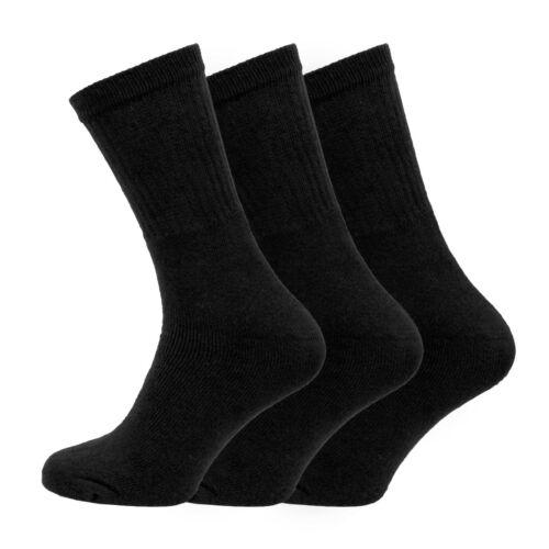 3 6 Lot de 12 Homme Washington Premium Chaussettes Comfort Fit UK 6-11 EU 39-45 Noir Rib