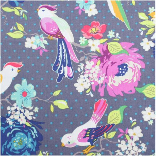 Lake House Birds Daisy Floral Craft Cotton Fabric Quilting FQ Bundle Meter FQ51