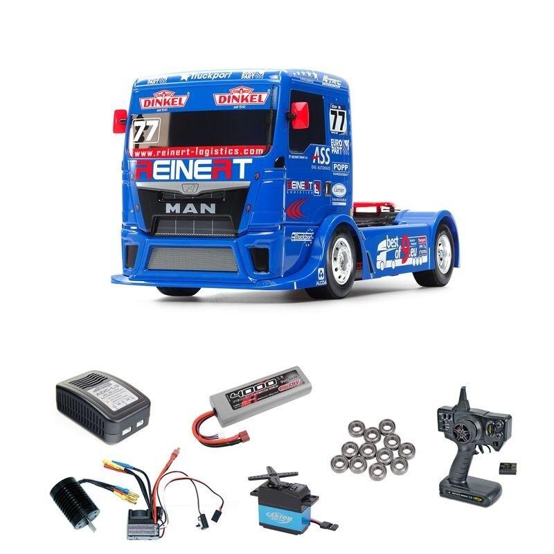 Tamiya Team Reinert Racing MAN TGS TT-01E Brushless Komplettset - 300058642BLSET
