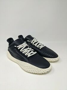 Men-039-s-Adidas-Kamanda-Horween-Leather-Shoes-Core-Black-Off-White-EE5650-Size-10-5