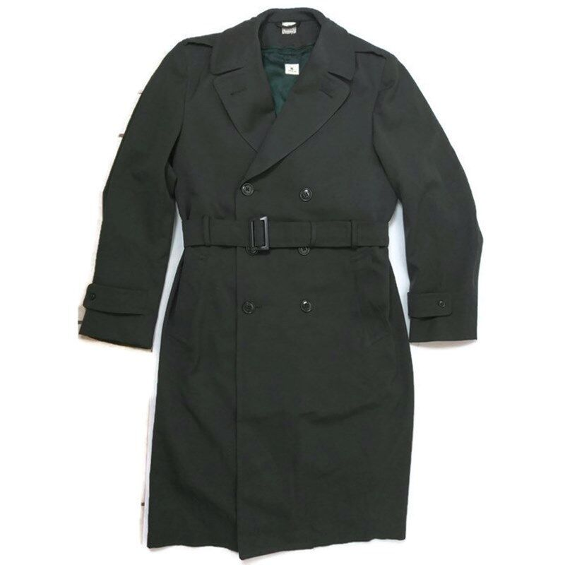 ARMY MILITARY Uomo Overcoat Size 38L 38L 38L verde Lana Trench  8405-782-2900 04ef06