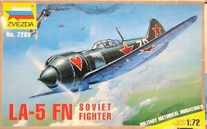 Zvezda-1-72-Lavochkin-La-5-FN-fighter-unmade-complete-kit-sealed-bag