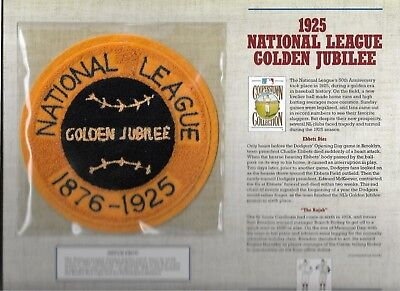 Sport 1925 Nationalen League Golden Jubilee Willabee & Ward U.s Cooperstown Sammlung