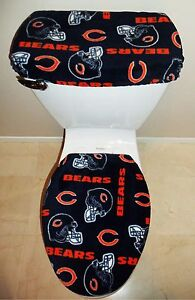 Nfl Chicago Bears Fleece Fabric Toilet Seat Cover Set Bathroom