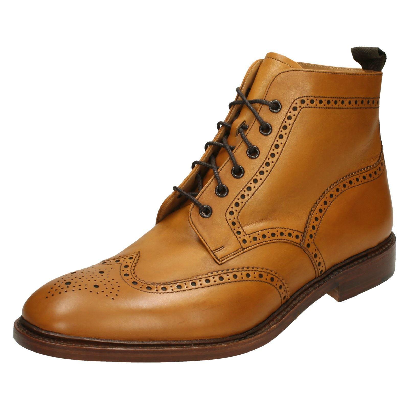 Loake Mens Brogue Lace Up Boots Burford 2