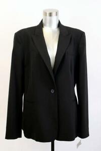NWT $160 CALVIN KLEIN Black Blazer Jacket Peak Lapel MODERN One-Button XL 16