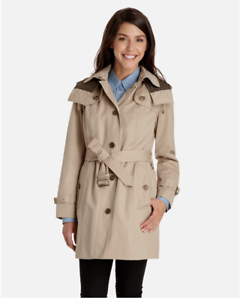 how to get shop latest selection of 2019 Details about LONDON FOG MACKENZIE DETACHABLE HOOD & LINING TRENCH COAT sz M