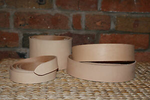 "55"" - 60"" LONG  NATURAL VEG TAN LEATHER BELT BLANK STRAP 3.3mm + KEEPER LEATHER"