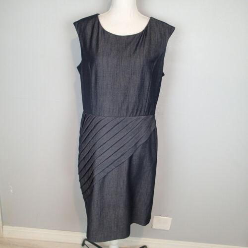 DARK WASH STRETCH DENIM DRESS SHEATH CALVIN KLEIN… - image 1