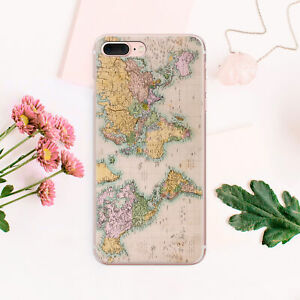 World-Map-iPhone-7-8-Plus-Rubber-Gel-Cover-iPhone-X-XS-Max-Case-iPhone-XR-Snap
