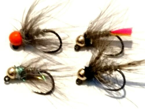 12 Mixed 3.5mm Tungsten Jig Grayling Nymphs Flies by Iain Barr Fly Fishing
