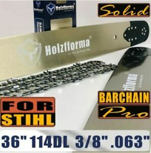 Holzfforma-Pro-36-Inch-3-8-063-114DL-Solid-Bar-amp-Full-Chisel-Chain-Combo-For-S