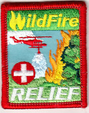 WILDFIRE RELIEF FIRES IRON ON EMBROIDERED PATCH DISASTER