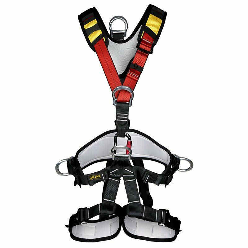 Pro Full  Body Harness, Climbing Rappelling Rescue Full Body Safety Belt 800Kg  cheap in high quality
