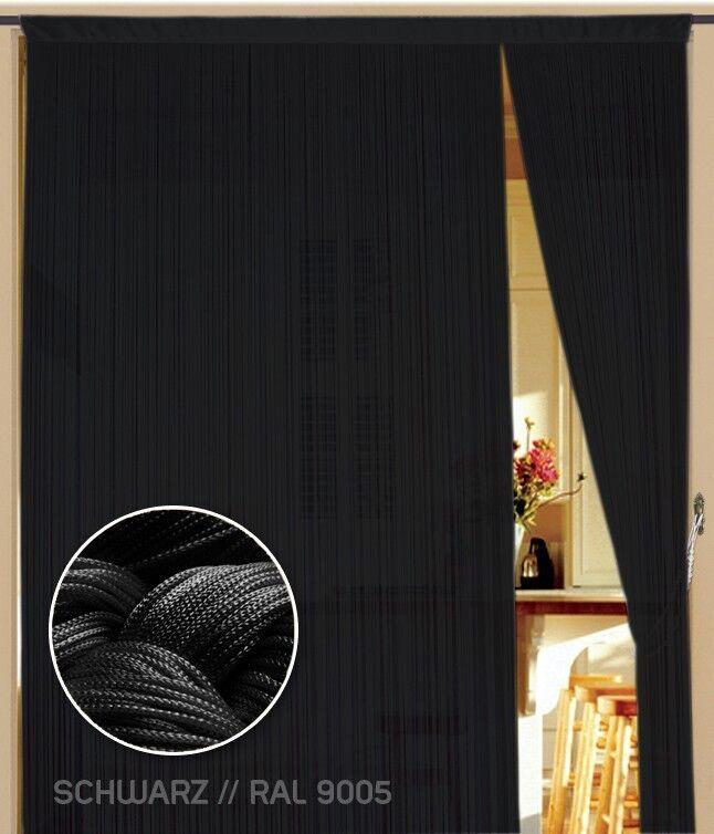 Fil rideau rideau rideau kaikoon kaikoon kaikoon 150 x 500 cm (L) couleur noir | Outlet Online Shop  0d2021