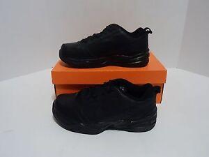 new style 3a688 1e098 La foto se está cargando Nike-Air-Monarch-IV-Negro-Negro-4E-ancho-