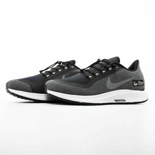 Nike Air Zoom Pegasus 35 Shield Running Shoes Black Gray AA1643 001 Men's NEW