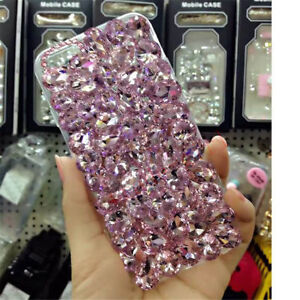 NEW-DELUX-COOL-LUXURY-BLING-PINK-DIAMANTE-CASE-4-VARIOUS-MOBILE-PHONES-6-7-8-9