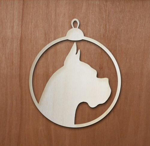 Gift Tag Birthday Tag Dog Dog Ply Christmas Tree Bauble Boxer