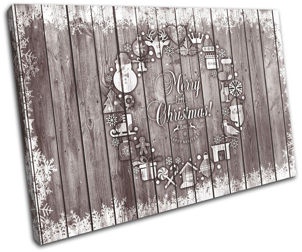 Christmas Decoration Wall Canvas ART Print XMAS Picture Gift Wood 13 braun Chris